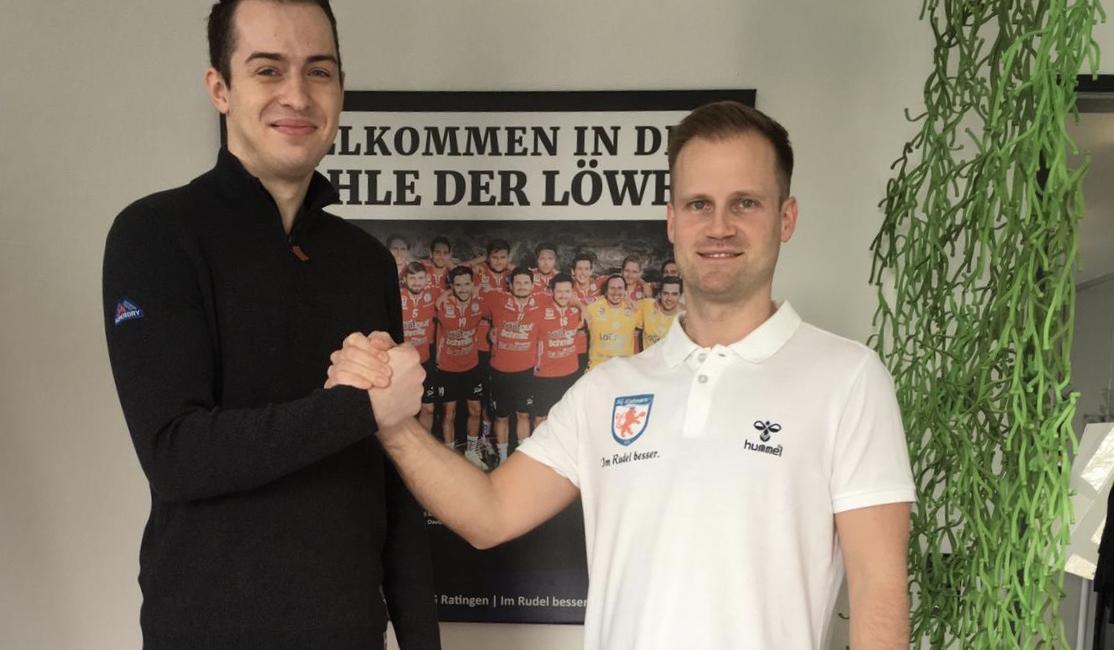 Rückraumspieler Timo Schmitz verlängert seinen Vertrag in Ratingen bis 2020.